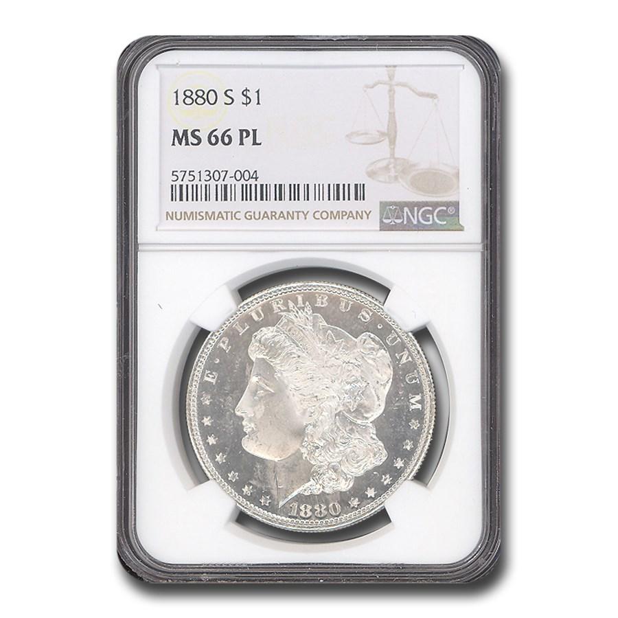 1880-S Morgan Dollar MS-66 PL NGC