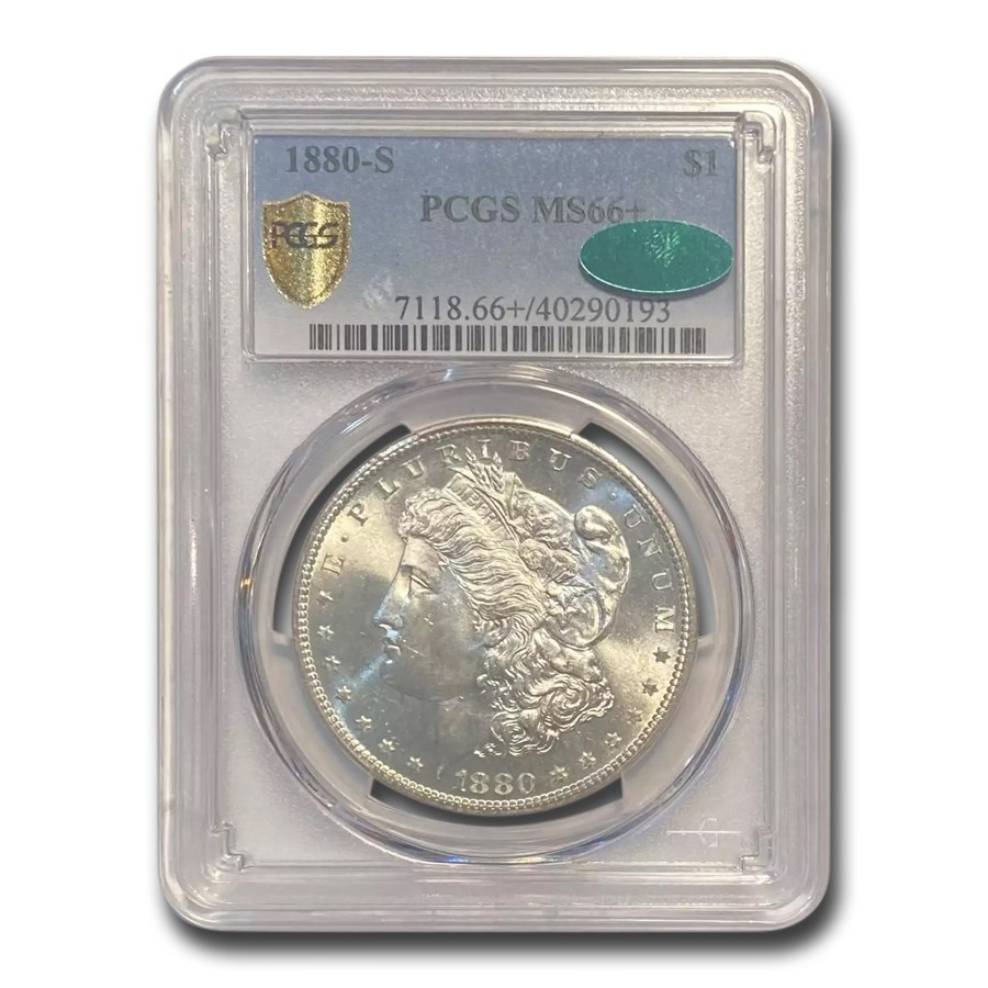 1880-S Morgan Dollar MS-66+ Plus PCGS (CAC)