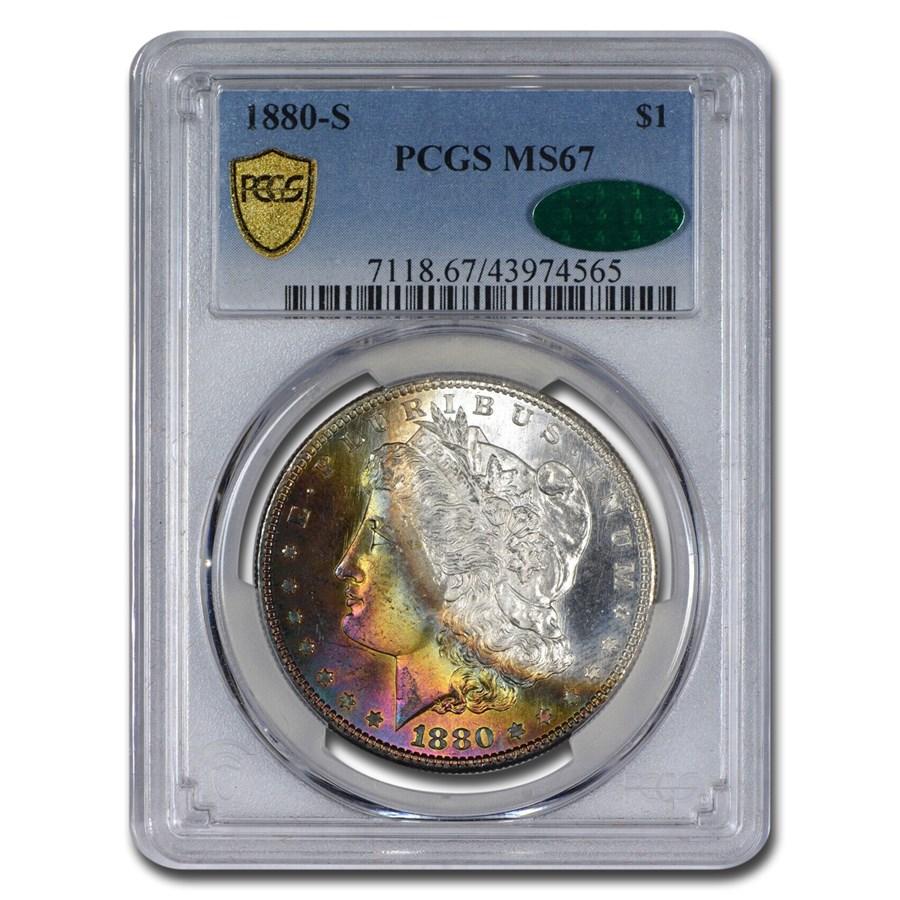 1880-S Morgan Dollar MS-67 PCGS (CAC, Chestnut Toning)