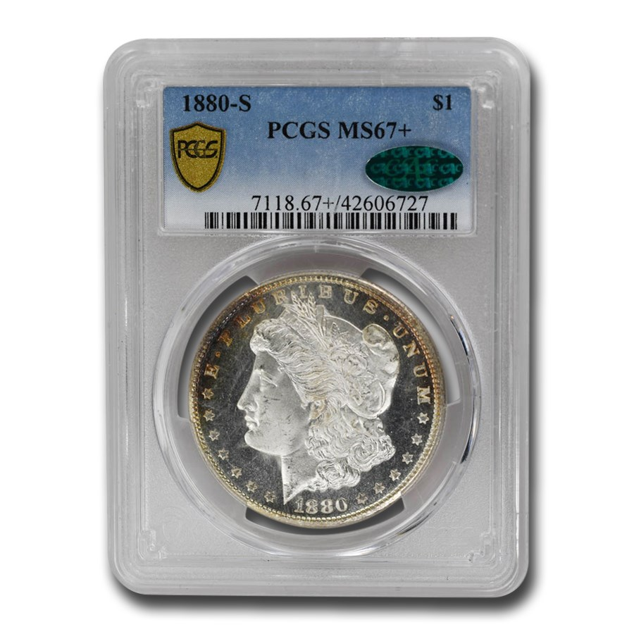 1880-S Morgan Dollar MS-67+ PCGS CAC