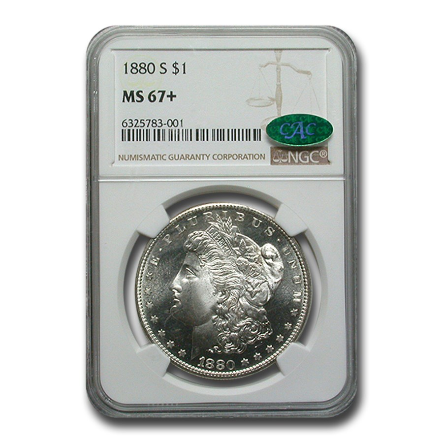 1880-S Morgan Dollar MS-67+ Plus NGC (CAC)