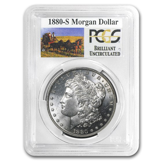 1880-S Stage Coach Morgan Dollar BU PCGS