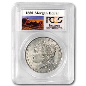 1880 Stage Coach Morgan Dollar BU PCGS