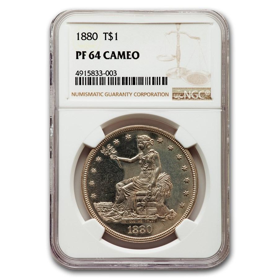 1880 Trade Dollar PF-64 Cameo NGC
