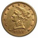 1881 $10 Liberty Gold Eagle AU