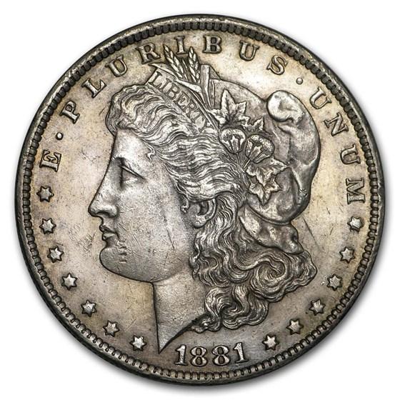 1881-CC Morgan Dollar AU