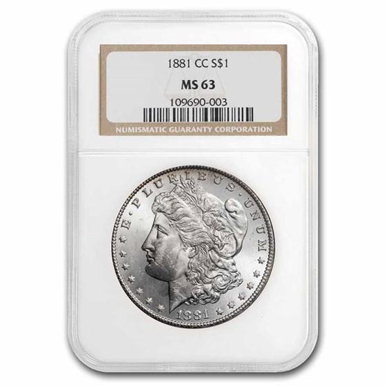 1881-CC Morgan Dollar MS-63 NGC