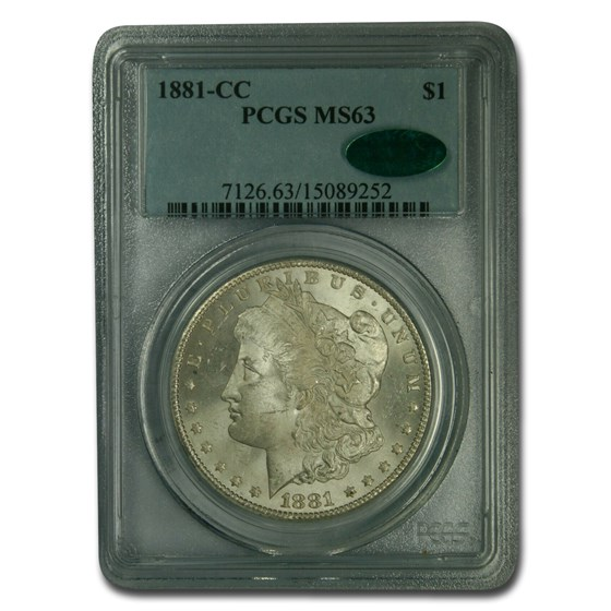 1881-CC Morgan Dollar MS-63 PCGS CAC