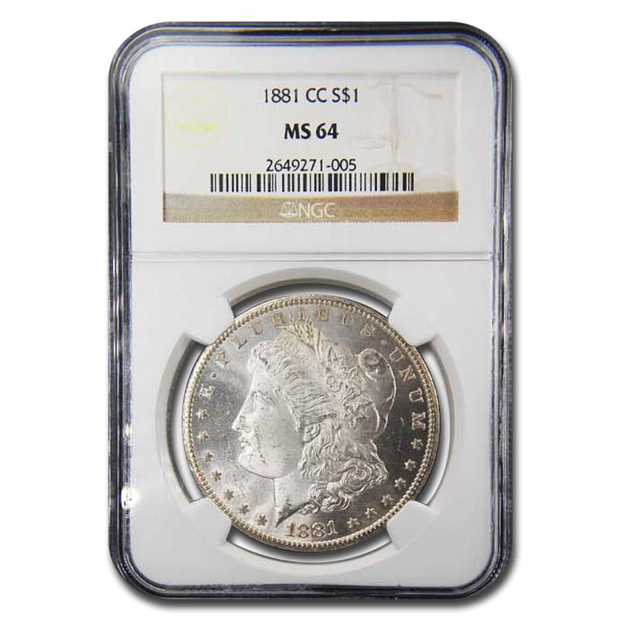 1881-CC Morgan Dollar MS-64 NGC
