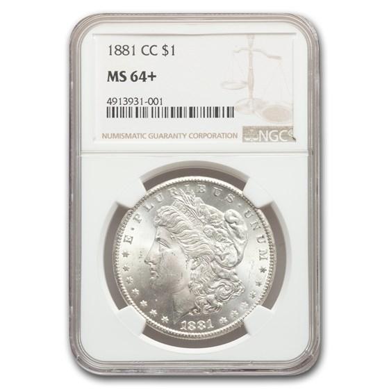 1881-CC Morgan Dollar MS-64+ NGC