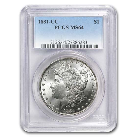 1881-CC Morgan Dollar MS-64 PCGS