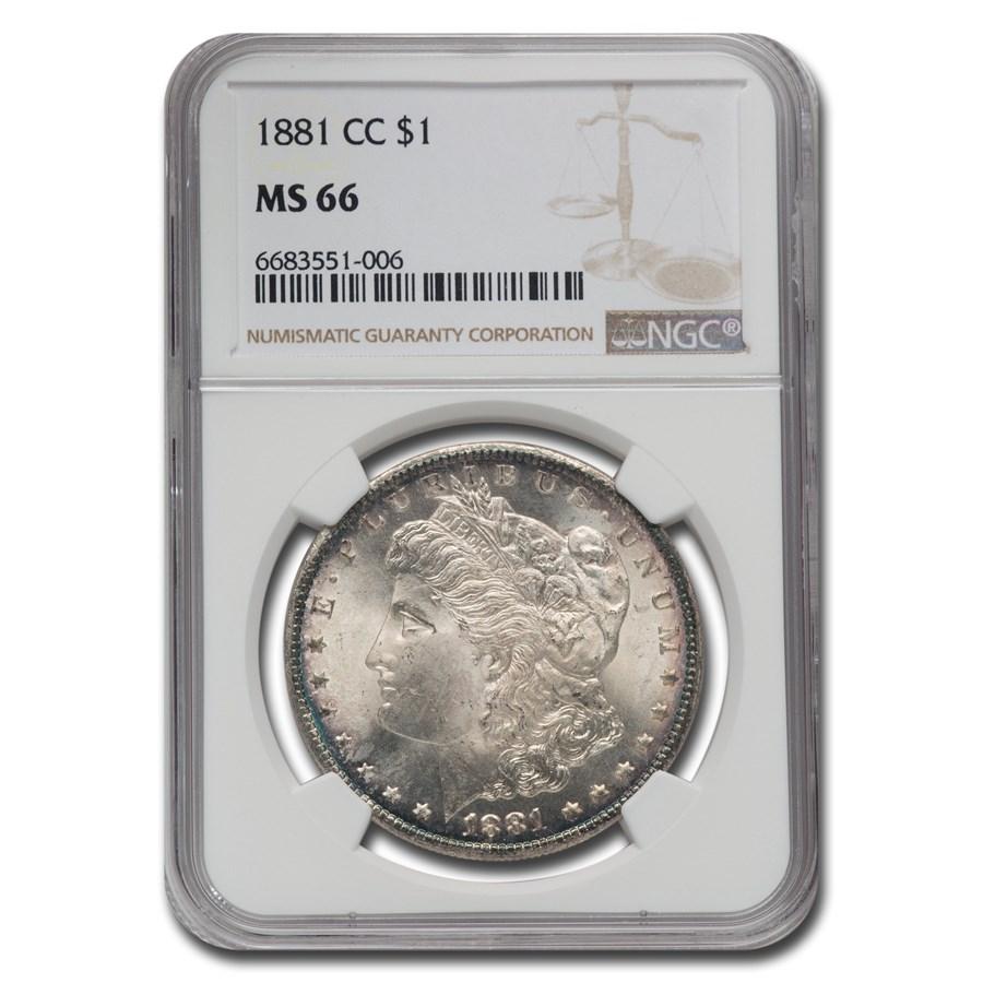 1881-CC Morgan Dollar MS-66 NGC