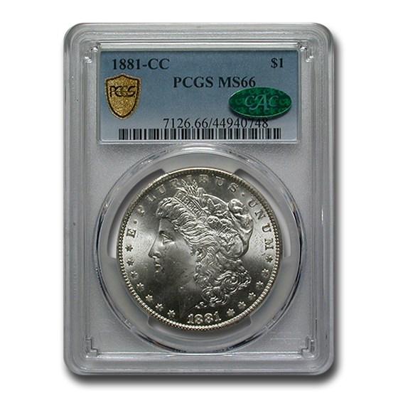 1881-CC Morgan Dollar MS-66 PCGS CAC