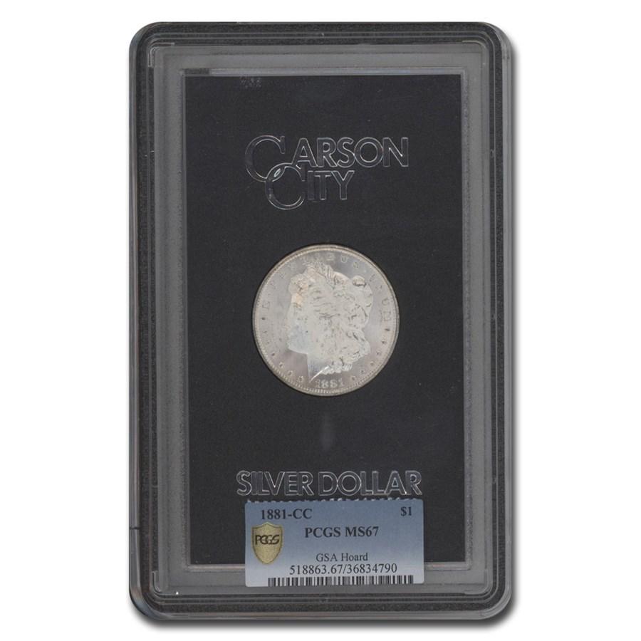 1881-CC Morgan Dollar MS-67 PCGS (GSA)