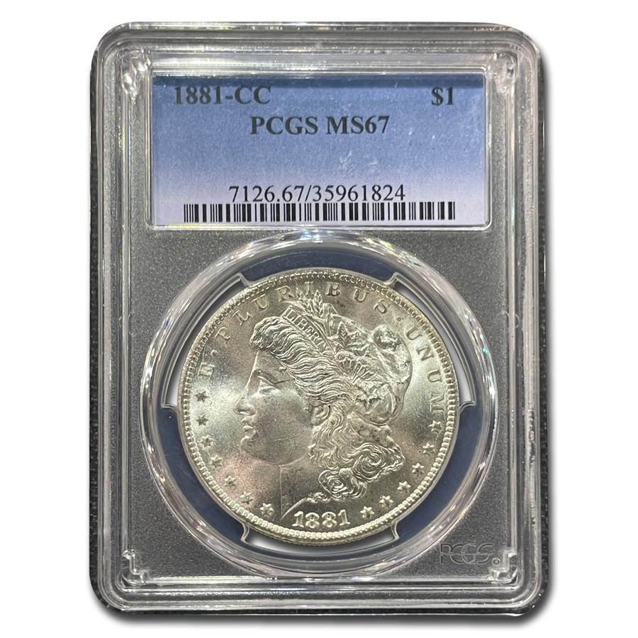 1881-CC Morgan Dollar MS-67 PCGS