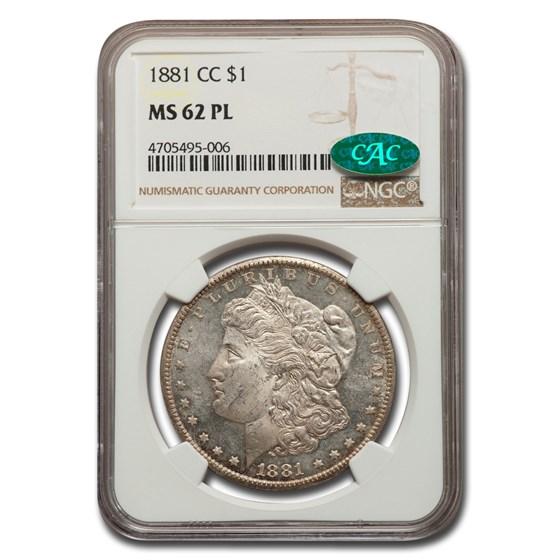 1881-CC Morgan Dollar PL MS-62 NGC CAC