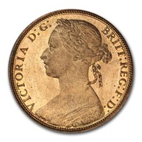 1881-H Great Britain One Penny Victoria PR-65+ RED PCGS
