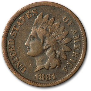1881 Indian Head Cent VG
