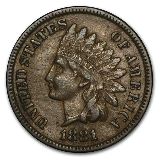 1881 Indian Head Cent XF