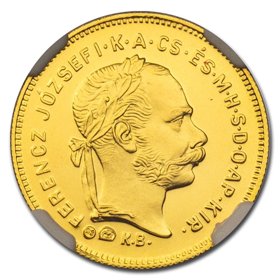 1881-KB Austria Gold AV Restrike Ducat MS-70 NGC (w/Box)