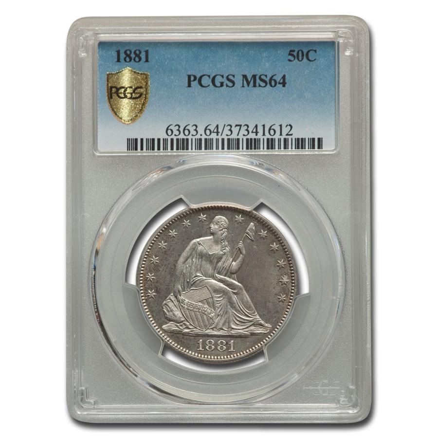 1881 Liberty Seated Half Dollar MS-64 PCGS
