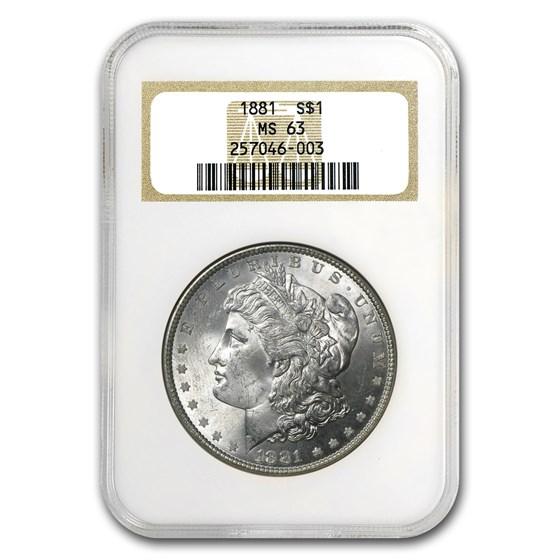 1881 Morgan Dollar MS-63 NGC