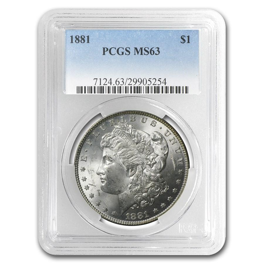 1881 Morgan Dollar MS-63 PCGS