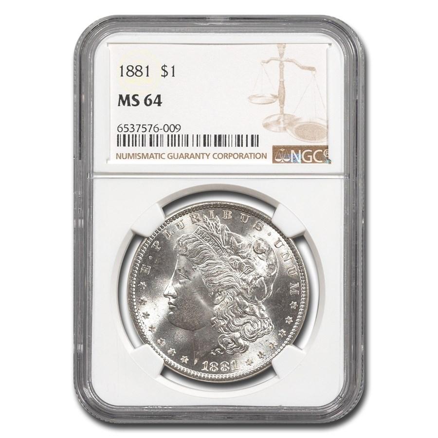 1881 Morgan Dollar MS-64 NGC