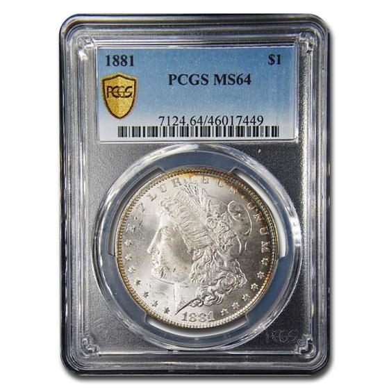 1881 Morgan Dollar MS-64 PCGS