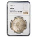 1881 Morgan Dollar MS-65 NGC