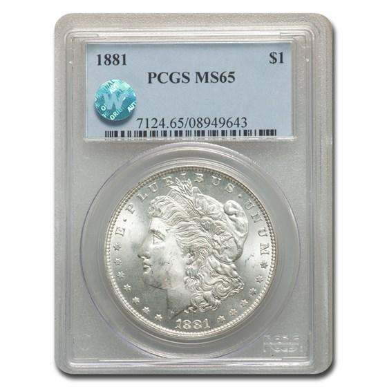 1881 Morgan Dollar MS-65 PCGS