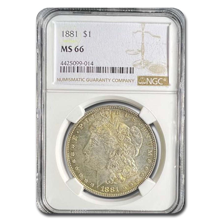 1881 Morgan Dollar MS-66 NGC