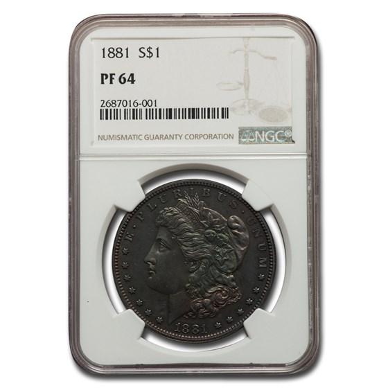 1881 Morgan Dollar PF-64 NGC