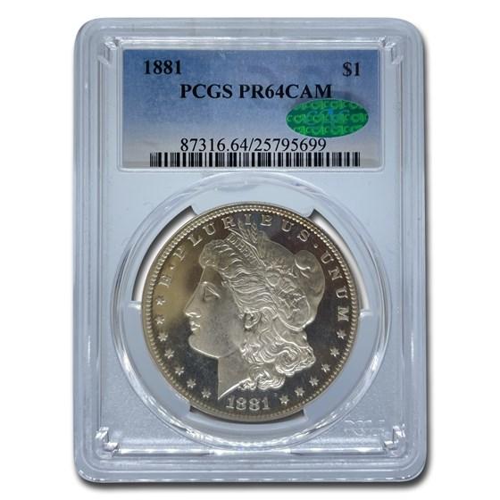 1881 Morgan Dollar PR-64 Cameo PCGS CAC