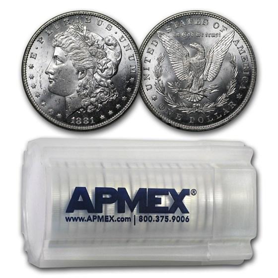 1881 Morgan Dollars BU (20 Count Roll)