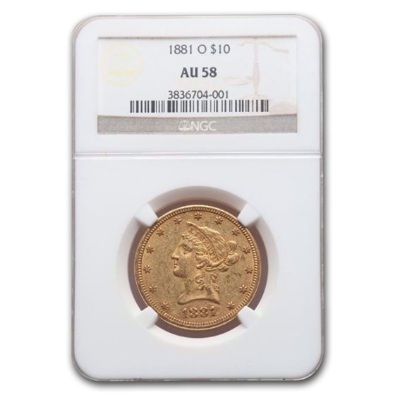 1881-O $10 Liberty Gold Eagle AU-58 NGC
