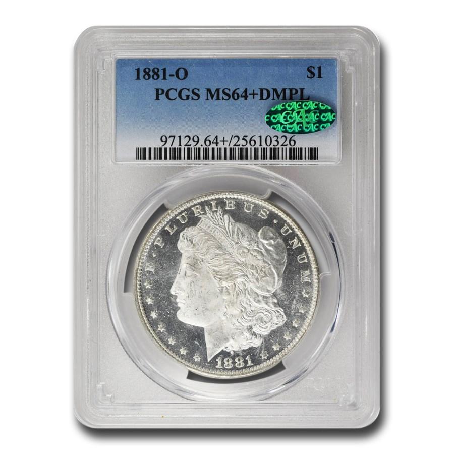 1881-O Morgan Dollar DMPL MS-64+ PCGS CAC