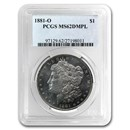 1881-O Morgan Dollar MS-62 DMPL PCGS