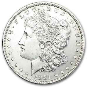 1881-O Morgan Dollar MS-62 (VAM-5, O/O Repunched Mintmark)