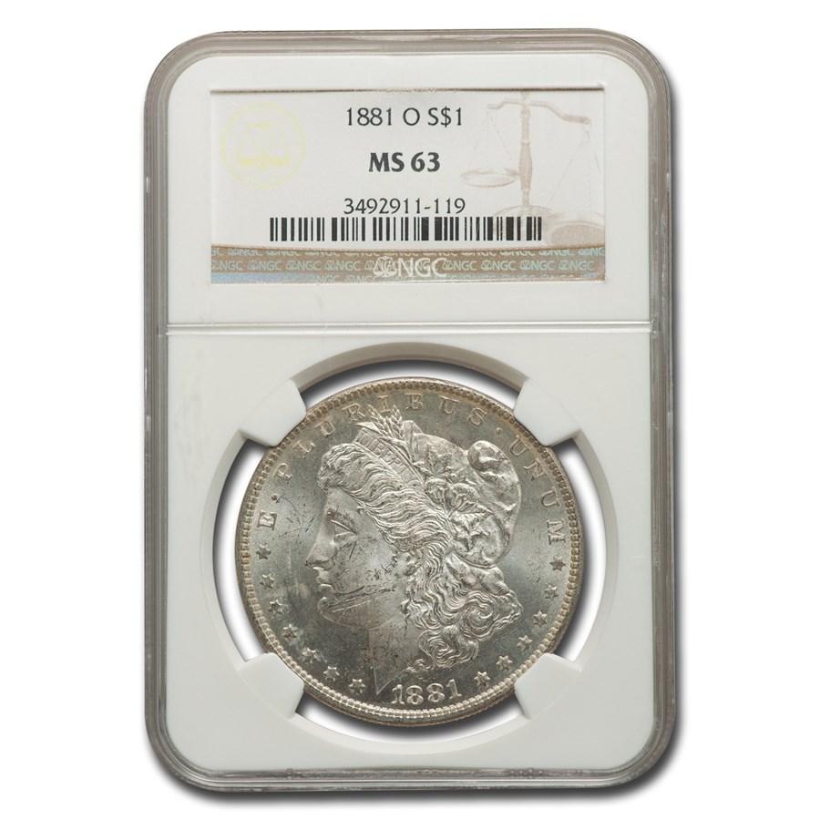 1881-O Morgan Dollar MS-63 NGC