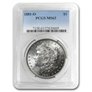 1881-O Morgan Dollar MS-63 PCGS