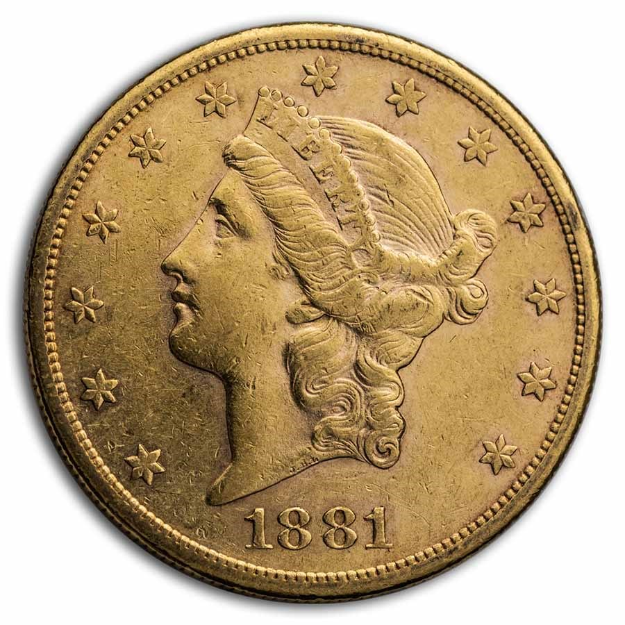 1881-S $20 Liberty Gold Double Eagle XF