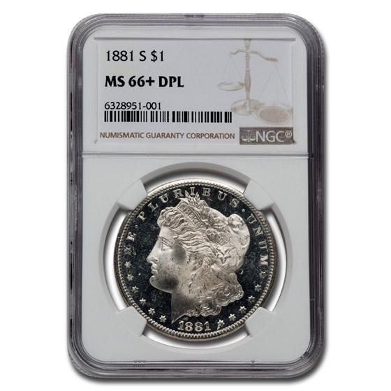 1881-S Morgan Dollar DPL MS-66+ NGC