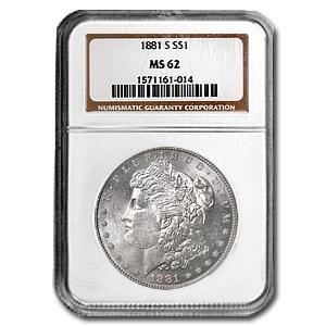 1881-S Morgan Dollar MS-62 NGC