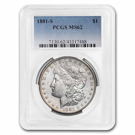 1881-S Morgan Dollar MS-62 PCGS