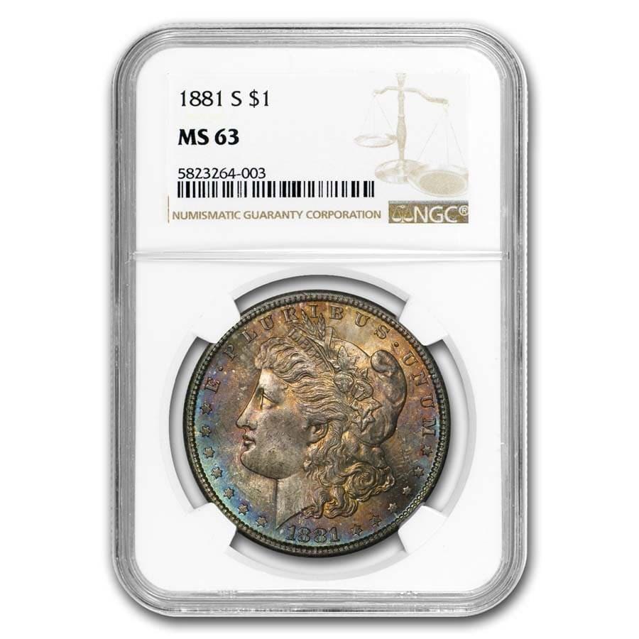 1881-S Morgan Dollar MS-63 NGC (Beautifully Toned)