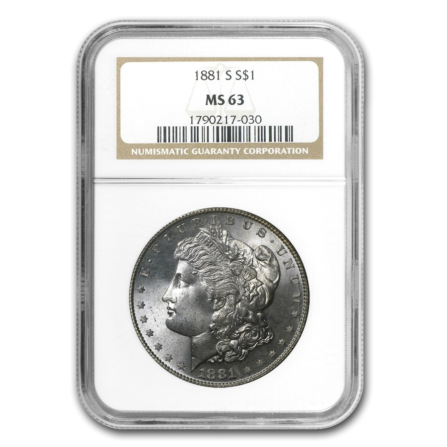 1881-S Morgan Dollar MS-63 NGC