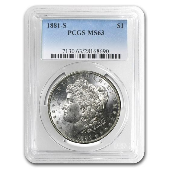 1881-S Morgan Dollar MS-63 PCGS