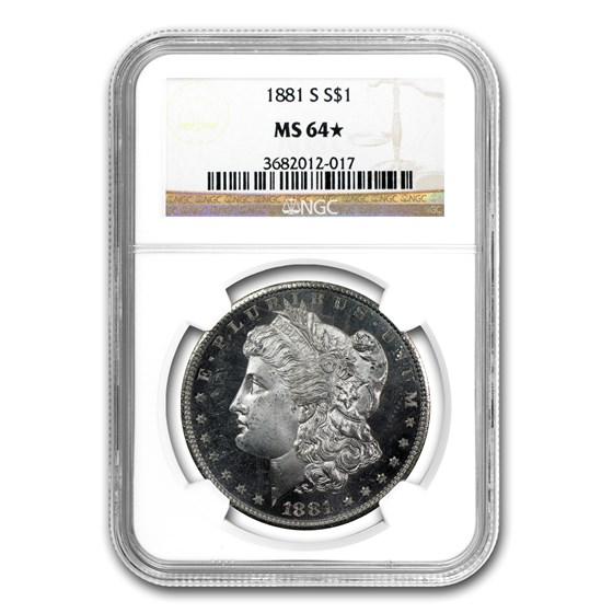 1881-S Morgan Dollar MS-64* NGC