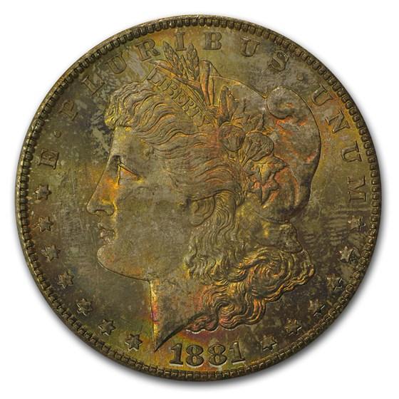 1881-S Morgan Dollar MS-64 PCGS (Pink Obv Toning)